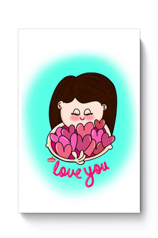 Posters Online | Love You Poster Online India | Designed by: Woodle Doodle