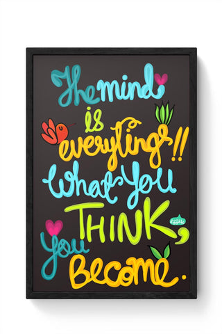 Framed Posters Online India | Mind Is Everything! Framed Poster Online India
