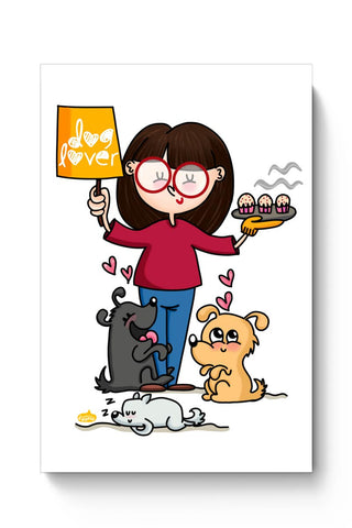 Posters Online | Dog Lover Poster Online India | Designed by: Woodle Doodle