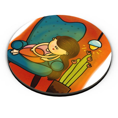 PosterGuy | The Cozy Corner Fridge Magnet Online India by Woodle Doodle