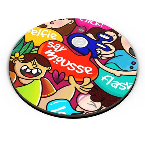 PosterGuy | Say Mousse! Fridge Magnet Online India by Woodle Doodle