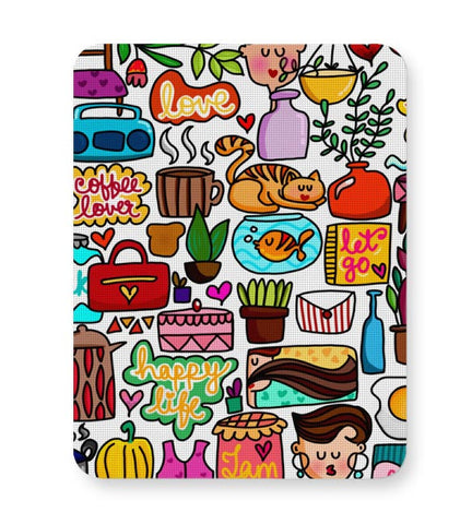 Cute Little Objects Mousepad Online India