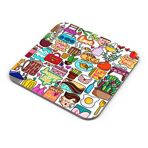 Cute Little Objects Coaster Online India