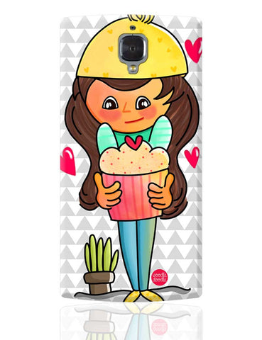 The Cupcake Girl OnePlus 3 Cover Online India