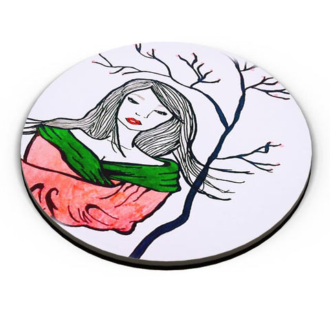 PosterGuy | Sad Geisha Fridge Magnet Online India by Peggila