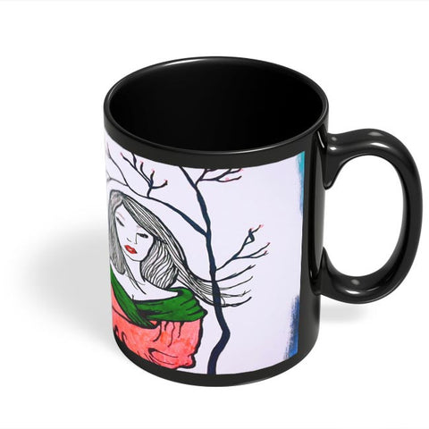 Coffee Mugs Online | Sad Geisha Black Coffee Mug Online India