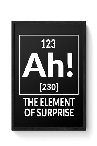 123 Ah! [230] The Element Of Surprise Framed Poster Online India