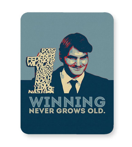 1 no winning never grows old roger federer Mousepad Online India