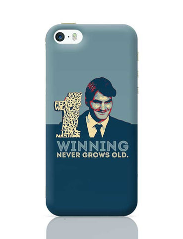 1 no winning never grows old roger federer iPhone 5/5S Covers Cases Online India