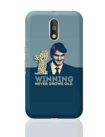 1 no winning never grows old roger federer Moto G4 Plus Online India