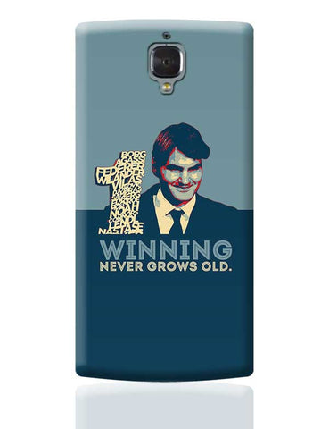1 no winning never grows old roger federer OnePlus 3 Covers Cases Online India