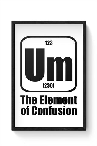 123 um [230] the element of confusion Framed Poster Online India