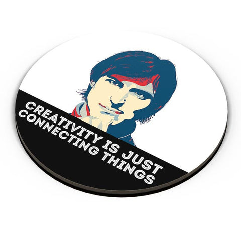 creativity is just connecting things Steve Jobs Fridge Magnet Online India