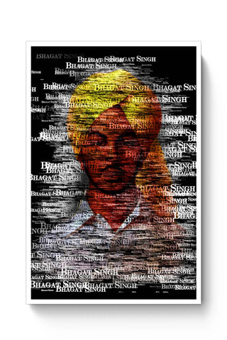 Posters Online | Bhagat-Singh Typography Poster Online India | Designed by: Sawariya Creatives