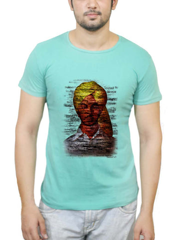 Buy Bhagat-Singh Typography T-Shirts Online India | Bhagat-Singh Typography T-Shirt | PosterGuy.in