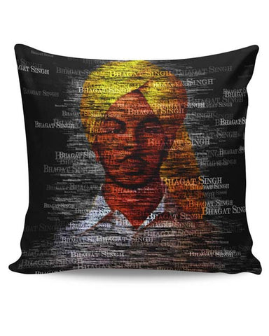 PosterGuy | Bhagat-Singh Typography Cushion Cover Online India