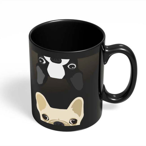 Coffee Mugs Online | Pug Duo Black Coffee Mug Online India