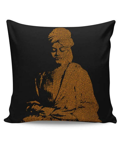 PosterGuy | Swami Vivekananda Typography Cushion Cover Online India
