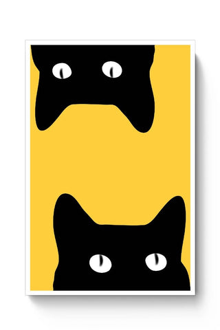 Posters Online | Black Cat Poster Online India | Designed by: Sawariya Creatives