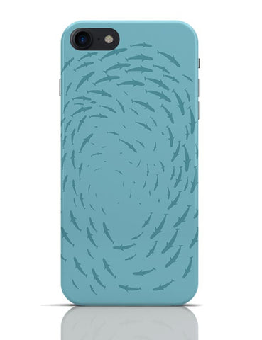 Shark Round Pattern iPhone 7 Covers Cases Online India