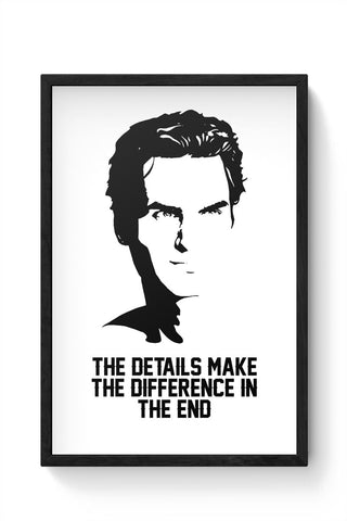 the details make the difference in the end roger federer Framed Poster Online India
