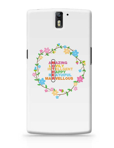 Amazing Lovely Intellgent Happy Beatuiful Marvellous Mother Mothers Day Special  OnePlus One Covers Cases Online India
