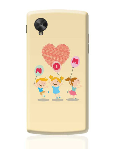 Love Mom Mothers Day Special  Google Nexus 5 Covers Cases Online India