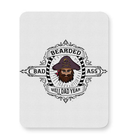 bearded badass well dad yaer illustration Mousepad Online India