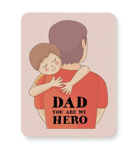 dad you are my hero illustration Mousepad Online India