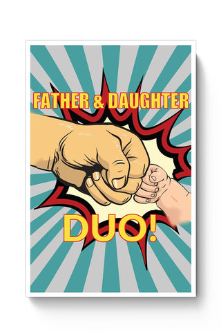 father and daughter duo! illustration Poster Online India