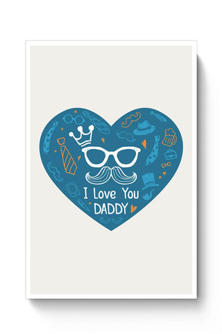 king much i love you daddy illustration Poster Online India