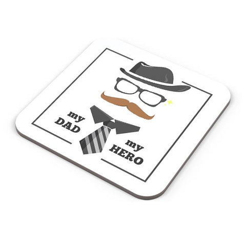 My dad my hero illustration Coaster Online India