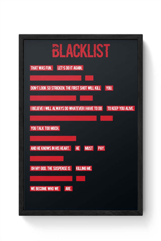 Framed Posters Online India | The Blacklist Framed Poster Online India