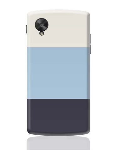 Google Nexus 5 Covers | Blue Hued Stripes Google Nexus 5 Case Cover Online India