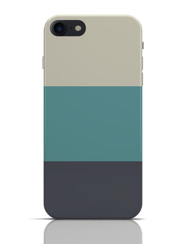 Cyan Hued Stripes iPhone 7 Covers Cases Online India