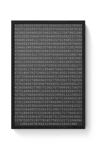 1000 Digits Of Pi Framed Poster Online India