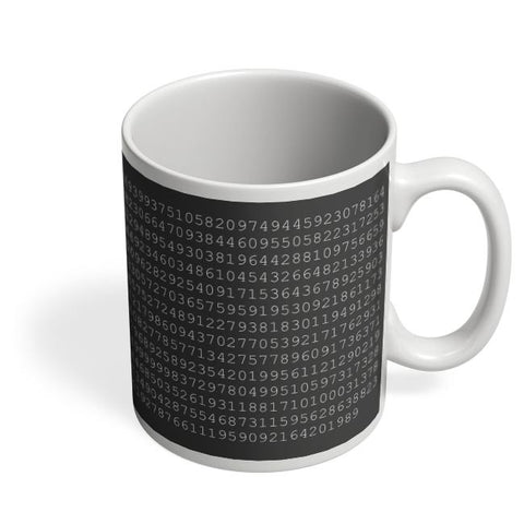 1000 Digits Of Pi Coffee Mug Online India