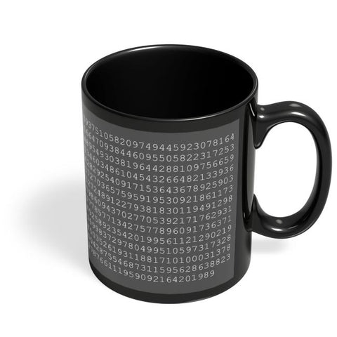 1000 Digits Of Pi Black Coffee Mug Online India