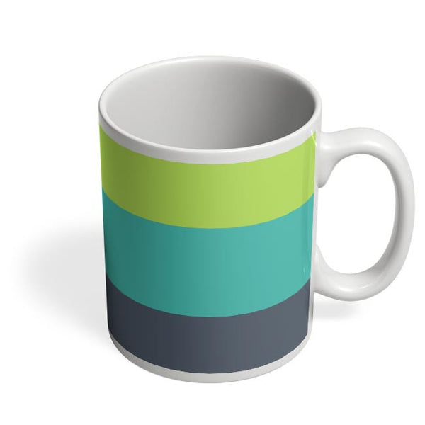 Green-Blue Stripes Coffee Mug Online India