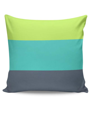 Green-Blue Stripes Cushion Cover Online India