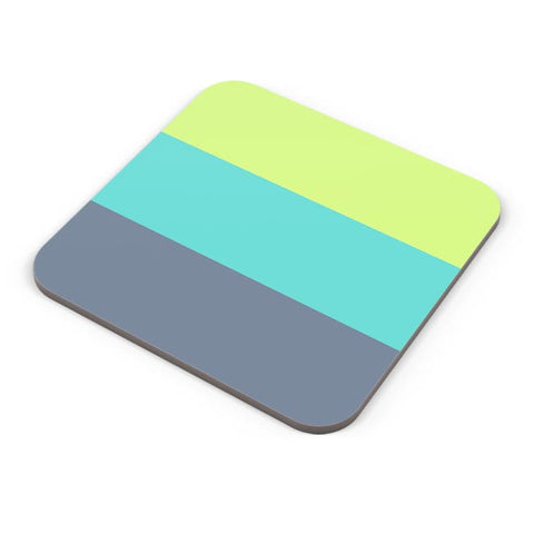 Green-Blue Stripes Coaster Online India