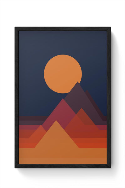 Mountains Framed Poster Online India