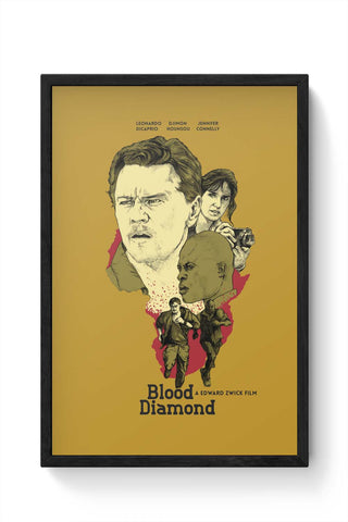 Framed Posters Online India | Blood-Diamond Framed Poster Online India