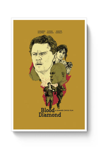 Posters Online | Blood-Diamond Poster Online India | Designed by: RJ Artworks