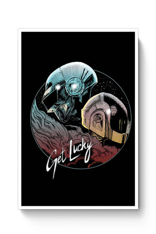 Posters Online | Daft Punk Get Lucky Poster Online India | Designed by: RJ Artworks
