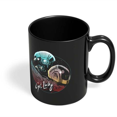 Coffee Mugs Online | Daft Punk Get Lucky Black Coffee Mug Online India