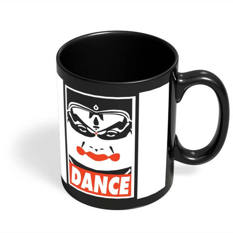 Coffee Mugs Online | Bharatanatyam Dance Black Coffee Mug Online India