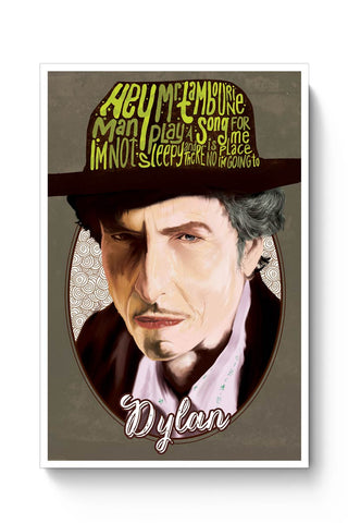Posters Online | Mr. Tambourine Man Bob Dylan Poster Online India | Designed by: RJ Artworks