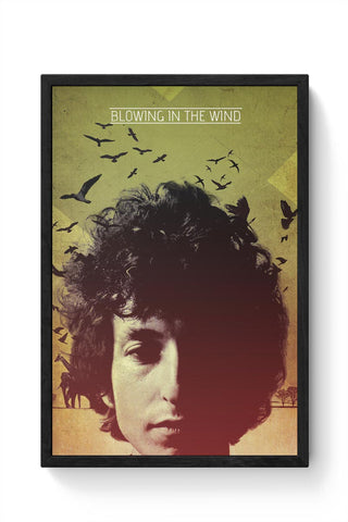 Framed Posters Online India | Blowing In The Wind Bob Dylan Framed Poster Online India