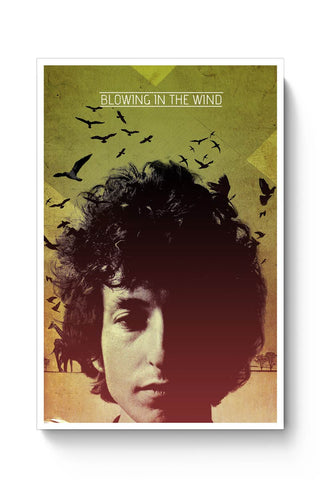 Posters Online | Blowing In The Wind Bob Dylan Poster Online India | Designed by: RJ Artworks
